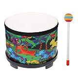 EXCEART Niños Piso Tom Drum Montessori Instrumento de Percusión Tambor Juguetes con 2 Mazos para Bebés Niños Navidad Cumpleaños