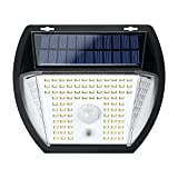 Luce Solare LED Esterno , GreenSun 138 LED Solar Motion Sensor Security Lights IP65 Waterproof Wireless Wall Lights Solar Lamps with 3 Intelligent Modes Adatto per Giardini, Terrazze [1 Pack]