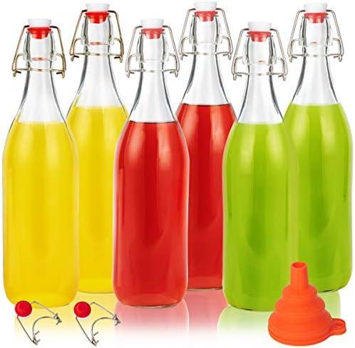 Swing Top Glass Bottles 32oz Eternal Moment Flip Top Airtight Brewing Bottle 6 Pack for Kombucha product image