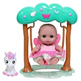 JC Toys, Fairy Swing Set Featuring Lil' Cutesies 8.5' All Vinyl Doll and her Unicorn Friend, Green