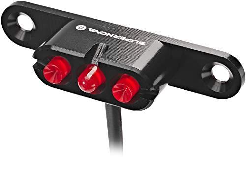 SUPER NOVA Unisex– Erwachsene E3 Tail Light 2 Rücklicht, Schwarz, 12 Volt