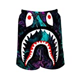 New Bape Stylish Men's Beach Shorts with Pocket Quick-Drying L