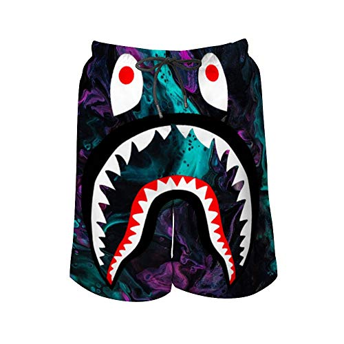 New Bape Stylish Men's Beach Shorts with Pocket Quick-Drying L