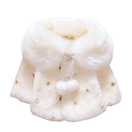 Brightup Bambina Ragazza Faux Pelliccia Inverno Mantello Mantello Cappotto Outwear