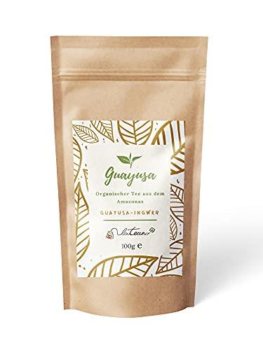 Lateano – Guayusa Tee lose organisch mit Ingwer 100g – Energy Tea aus dem Amazonas für mehr Konzentration, Ausdauer & Leistung,100{ab3a249a4d5335407bb4907fcdbd833cc3766d56e95e17d85f8b4260de632a05} kompostierbare Verpackung – die natürliche Alternative zu Kaffee
