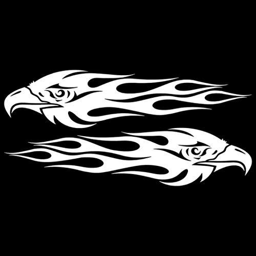 YSHtanj Autoaufkleber Außendekoration Autoaufkleber 1 Paar Adler Auge Auto Styling Aufkleber Fahrzeug Karosserie Fenster Decals Dekoration - Weiß