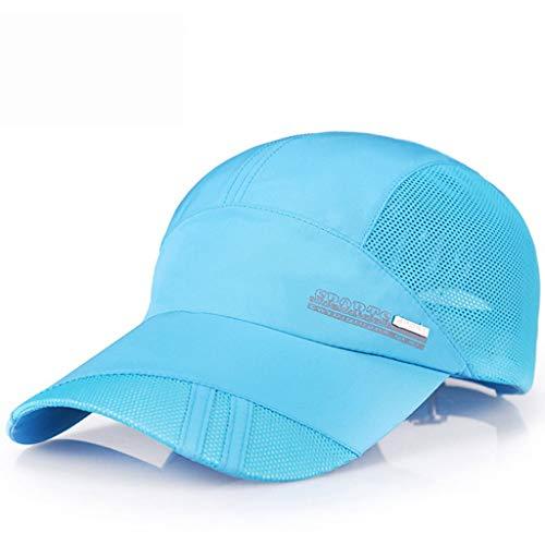 Sonnenhut Herren Sonnenhut Schnelltrocknende, atmungsaktive Herren-Sommerkappe für Sportler Outdoor-Sonnencreme Sonnencreme Light Riding Baseball Cap ZHAOSHUNLI (Color : Lake Blue)
