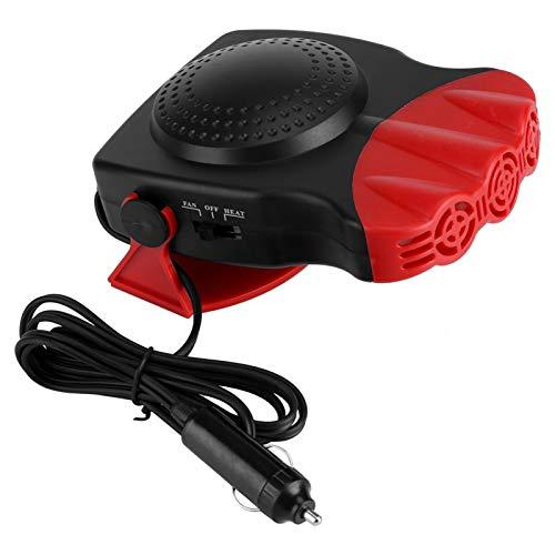 Raguso Ventilateur de Chauffage ABS Ventilateur de Chauffage de Voiture Pratique et Pratique pour Le dégivrage Désembuage en 6,7 x 4,3 x 1,6 Pouces