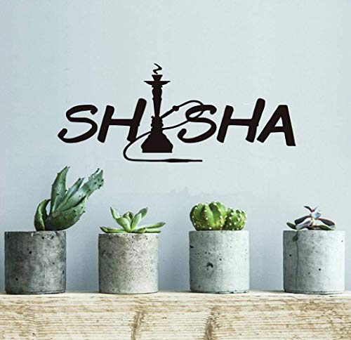 Wall Art Sticker, Motiv Quotten und Sayings Shisha Art Font Decorative Sticker für Girls Room Nursery Kids Room Play Room Vinyl Deecal Wall Decor