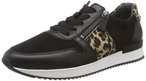 Gabor Damen Jollys Sneaker, Schwarz (Schwarz/Natur 20), 38.5 EU