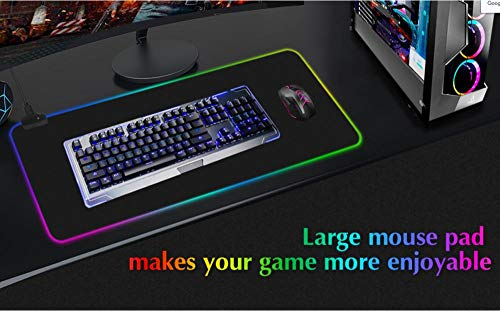 Mouse Pads Sword Art Online Anime Gaming Mouse Pad Gamer RGB Backlit Large Anime Mousepad Desk Keyboard Led Mat 14 Colour-40X90X0.4Cm Photo #4