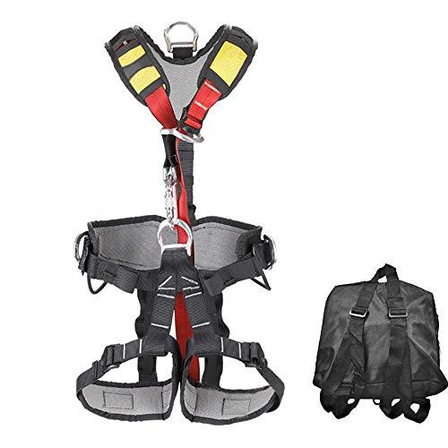 XYQY Klettergurt Ganzkörpersicherheits-Klettergurt Professionelle Abseilausrüstung Körperschutz Sicheren Sicherheitsgurt schützen