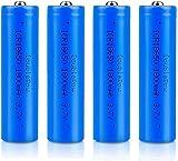 18650 Baterías Recargables 3.7 V ICR 1800 MAH Li-Ion Baterías de Alta Capacidad Pollado portátil Batería de Repuesto 1200 ciclos Larga Vida-Lote de 4 Botones