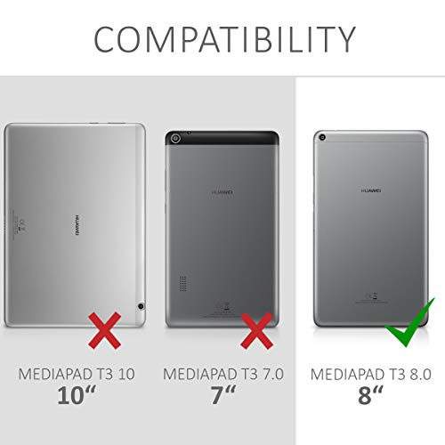 kwmobile 2x Huawei MediaPad T3 8.0 Folie - Full Screen Tablet Schutzfolie für Huawei MediaPad T3 8.0 entspiegelt - 5