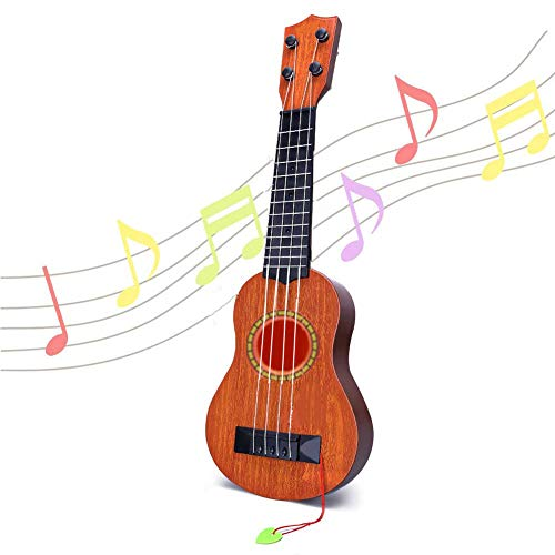 Ukulele Gitarre Spielzeug für Kinder 33 cm 4 Nylon-String Starter Konzertgitarre Lerninstrument für Anfänger Kinder