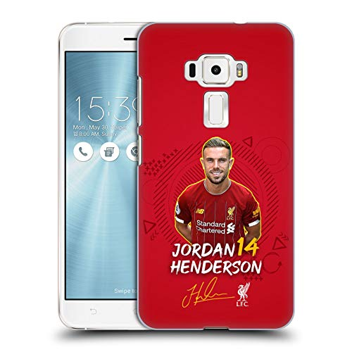 Oficial Liverpool Football Club Jordan Henderson 2019/20 Primer Equipo Grupo 1 Carcasa rígida Compatible con Zenfone 3 ZE552KL