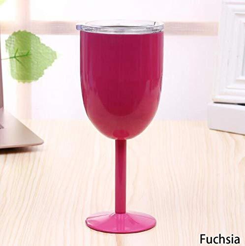 Qnmbdgm Europees wijnglas antiek getint roestvrij staal creatief winecup duurzaam drankproduct bar gereedschap
