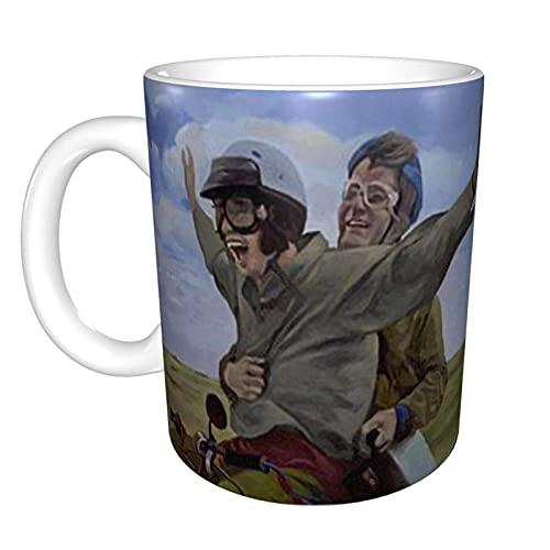Dumb and Dumber PaintingMugTaza de té de cerámica para oficina taza de café de 11 onzas