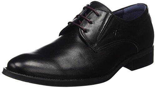 Fluchos Heracles, Zapatos de Cordones Derby para Hombre, Negro (Negro 000), 41 EU
