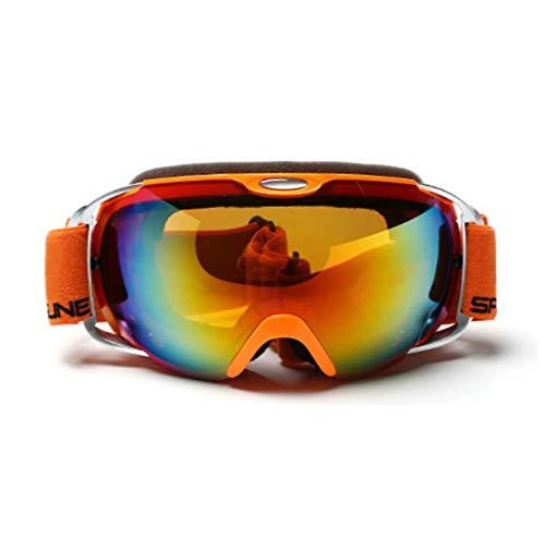 CXJ Gafas Esquí Ski Gafas Goggle Lente Doble Snowboard De Sol Professional Anti Fog UV,Orange-orangelens