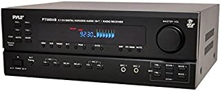 Wireless Bluetooth Power Amplifier System - 420W 5.1 Channel Home Theater Surround Sound Audio Stereo Receiver Box w/ RCA, AUX, Mic w/ Echo, Remote - For Subwoofer Speaker - Pyle PT588AB