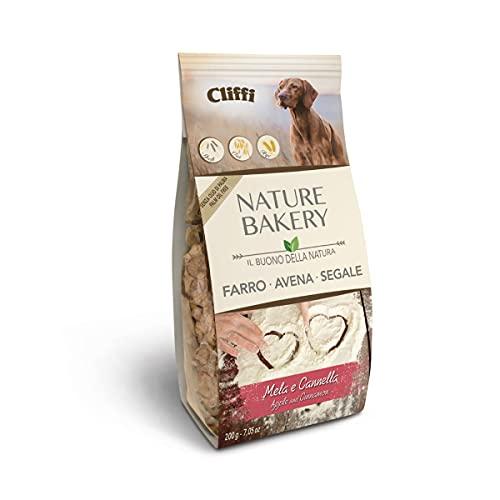 Cliffi Biscotti per cani NATURE BAKERY 100% Naturali - Gusto Mela e Cannella - 200 gr