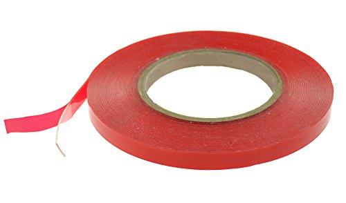 FiveSeasonStuff アクリルの透明な両面テープ多用途 屋内屋外用 車輛用 両面テープ 超強力 スマホ修理 パソコン修理 業務用 家庭用 工業用 赤い隔離膜