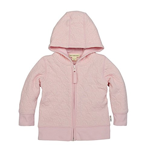 Burt's Bees Baby Unisex Baby Jacket, Hooded Coat, 100% Organic Cotton, Blossom Quilted, 12 Months