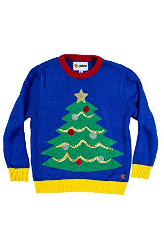 Tipsy Elves Boys and Girls Ugly Christmas Sweater - Tacky Kid's Christmas Tree Pullover Size Size M