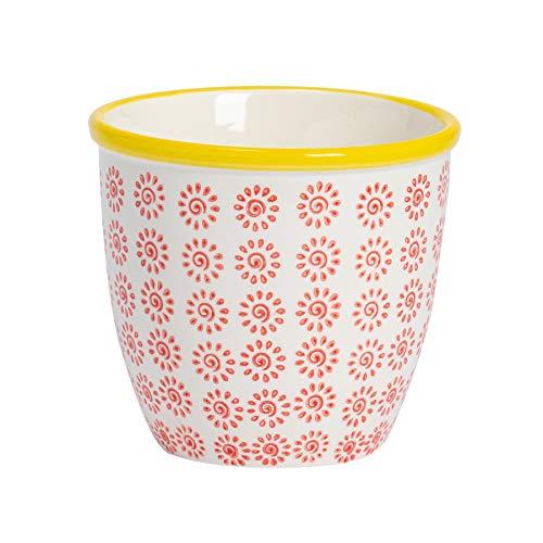 Nicola Spring Macetero de Porcelana Estampado - para Exterio