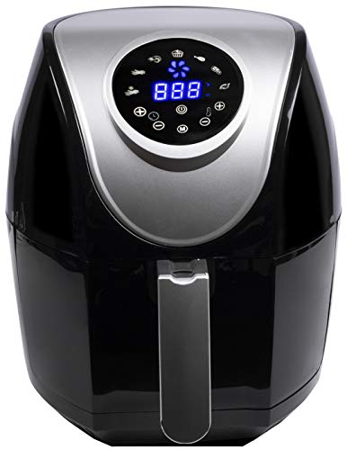 Air Fryer 4.5 QT 7-in-1 Touch Screen Hot Large Electric Air Fryer Oven Oilless Cooker(Grey/Black)