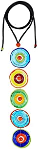 Colgante Artesanal 5Color Energy de Cristal de Murano Collar Mujer Color Mix