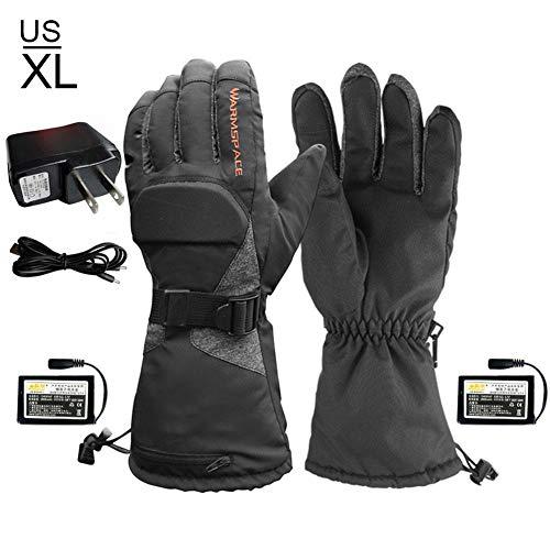 Beheizte Handschuh Elektrische Heizung Handschuhe skihandschuhedamen warmherren Winter wasserdich Wintermotorrad 3-Block-Temperaturregelung warme Skihandschuhe