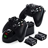 Controller Charger for Xbox, YCCTEAM Battery Pack Rechargeable for Xbox One, Xbox One X, Xbox One S, Xbox One Elite Controller, Charging Station for Xbox One with 2pcs 1200mAh Rechargeable Battery