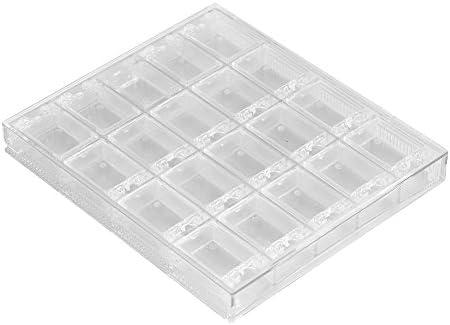 Nail Art Storage Box 20 Grids Transparent Acrylic Nail Art Decorations Storage Box Rhinestone product image