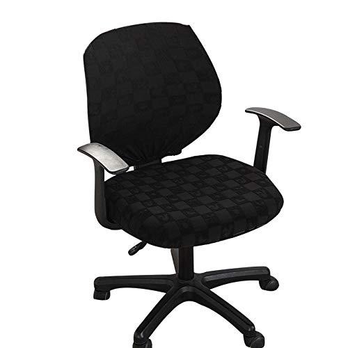 Facai Jacquard Bezug für Bürostuhl, Elastischer Drehstuhl Husse, Waschbarer Stuhlhussen für Schreibtischstuhl, Abnehmbare Stuhlbezüge für Computerstuhl #2