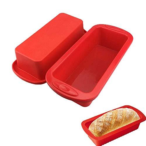 SJYM Siliconen Cakevorm Rechthoek Pan Bakvormen Mallen Brood Toast Snoepvorm Vorm Bakvormen Bakken Gerechten Gebak Brood Pannen