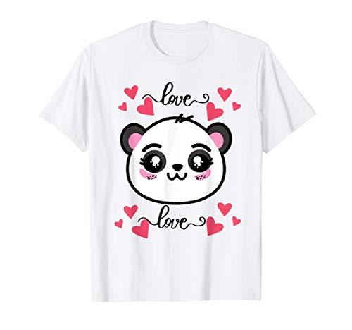 Cute Kawaii Panda Bear Face Halloween Costume Kids Girls Maglietta