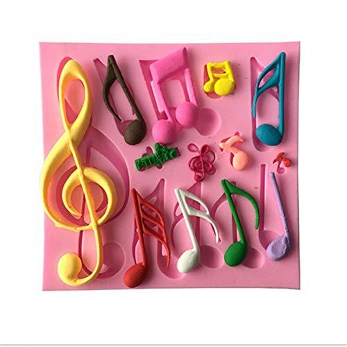 1 molde de silicona con forma de notas musicales, para moldes de tartas, herramientas, moldes y herramientas de azúcar