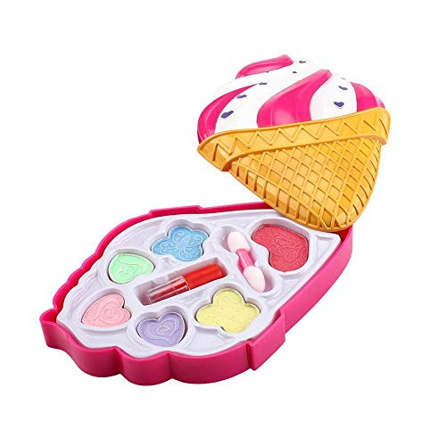 8 stuks cosmetica-speelgoed make-up sets voor kinderen, make-up voor meisjes, make-up set voor meisjes, aardbeien-cosmetica-etiketten, make-up koffer, beauty case, kindermake-up