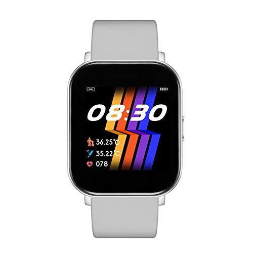 Reloj inteligente, pantalla táctil de 1,4 ', con monitor de frecuencia cardíaca y presión arterial, monitor de actividad física IP67 impermeable y resistente al agua para hombres y mujeres,Silver gray