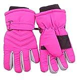 Pink Toddler Girls Ski Snow Sport Driving Winter Gloves Waterpoof