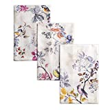 Maison d' Hermine Equinoxe 100% Cotton Set of 3 Multi-Purpose Kitchen Towel Soft Absorbent Dish Towels   Tea Towels   Bar Towels   Thanksgiving/Christmas (Beige, 20 Inch by 27.50 Inch)