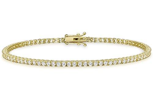 Carissima Gold Damen - Armband 375 Rundschliff Zirkonia 1.26.9082