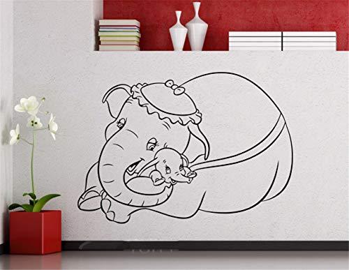 Dumbo Flying olifant Cartoons Mrs Jumbo sticker Home decoratie for Living Room slaapkamer alleen kinderen slaapkamer wandtattoo kinderkamer wandtattoo slaapkamer 62x49.5 cm