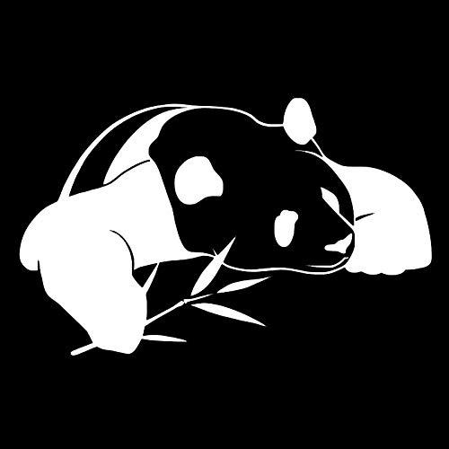 De nieuwe Panda creatieve persoonlijkheid dierlijk lichaam stickers auto stickers slinger csfssd (Color : White)