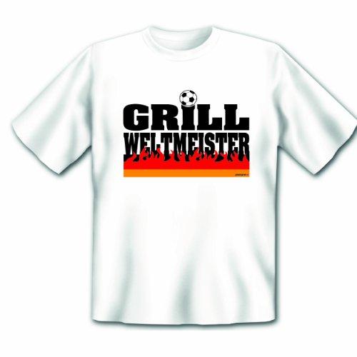 Das T-Shirt zur Fußball - Grillparty 2014! Deutschland Grill Weltmeister! Fan Shirt, Trikot Gr. 5XL Fb: weiss