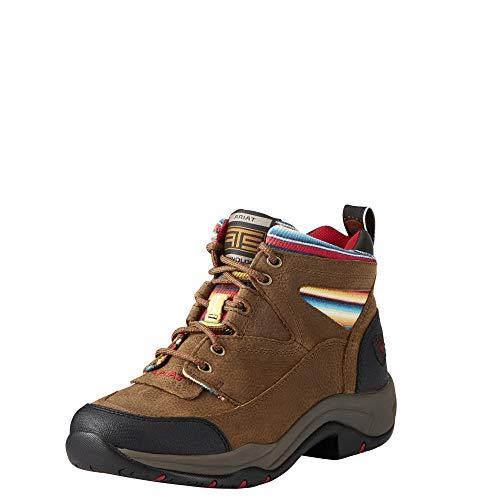 Ariat Women's Terrain Work Boot, Walnut/Serape, 8.5 B US