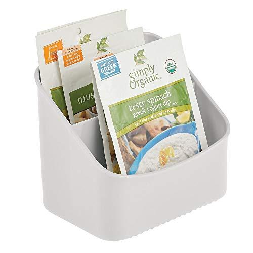 mDesign Küchen Organizer - Aufbewahrungsbox für Tütensuppen, Gewürzmischungen