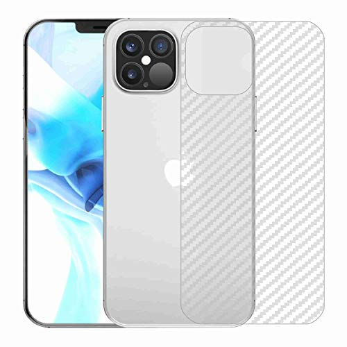 Kite Digital Compatible with iPhone 12 PRO MAX 6.7″ Back Screen Protective Film Carbon Fiber Skin Transparent Screen Guard Sticker